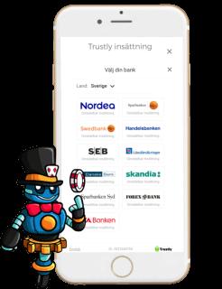Trustly banker för insättning