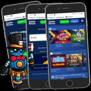 Casino Heroes mobilcasino